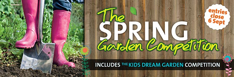 Spring Garden Competition website page