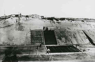 Construction of the sea-outlet for the River Torrens, C. 1937 (B18651_5, SLSA)