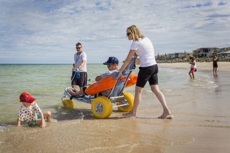 Accessible beach chair