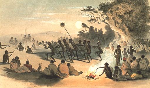 The Kuri Dance 1847 - G. F. Angas
