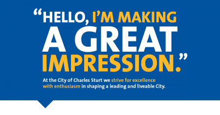 Hello, I'm making a great impression.
