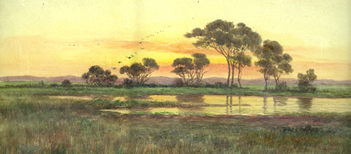 Sun Rising, Adelaide Hills, J. Ashton, c1900 (Private Collection)