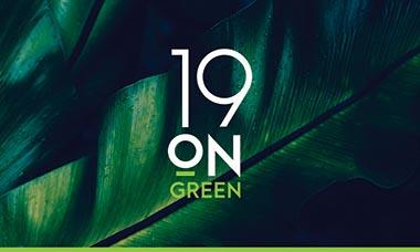 19 on Green logo